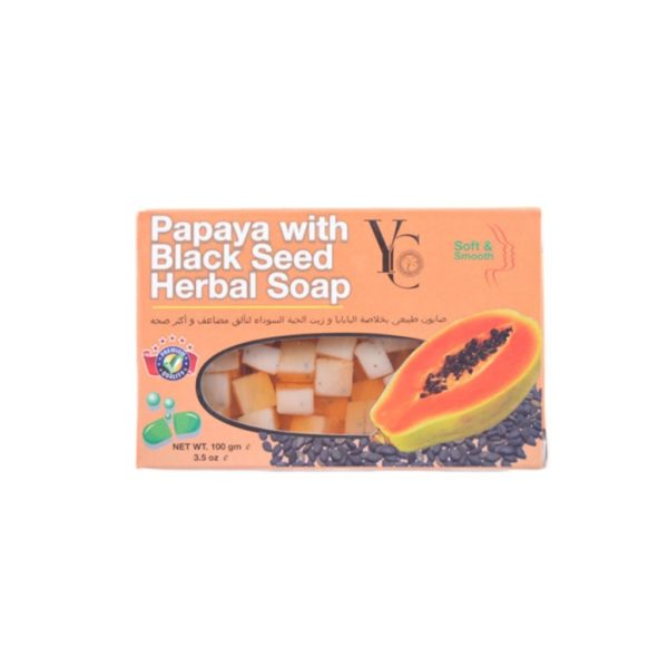 YC Thailand Papaya Black Seed Soap - 100Gm