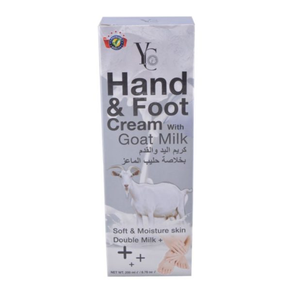 YC Thailand Hand & Foot Cream With Goat Milk - 200Ml