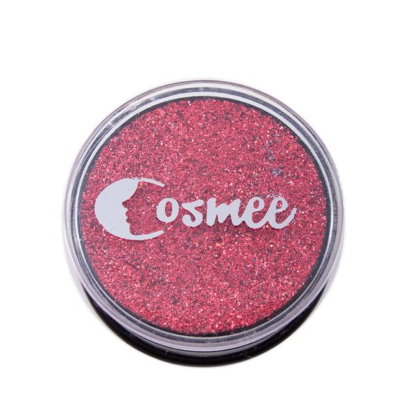 Cosmee Premium Glitter Eye Shadow - 10 Wild Cardinal Red
