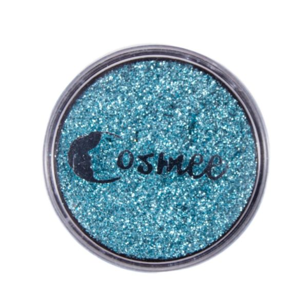Cosmee Premium Glitter Eye Shadow - 17 Peacock Blue