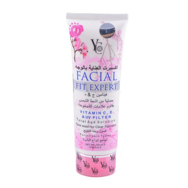 YC Thailand Facial Fit Expert Face Wash Pink - 100Ml