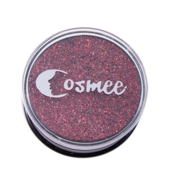 Cosmee Premium Glitter Eye Shadow - 11 Dark Red
