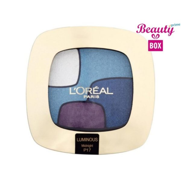 Loreal Color Riche Quad Luminous Eye Shadow - P17 Midnight