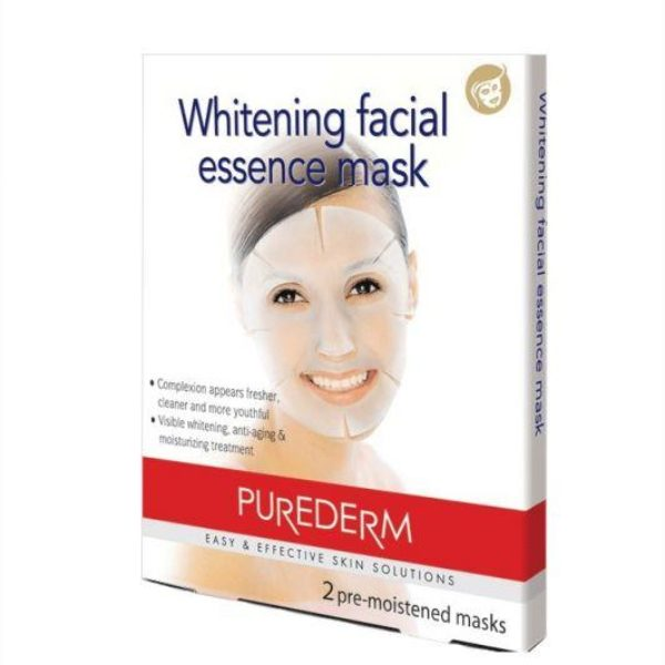 Purederm Whitening Facial Essence Mask - 2 Pre-Moistened Mask