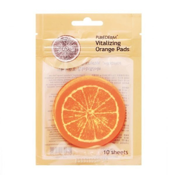 Purederm Vitalizing Orange Pads - 10 Sheets