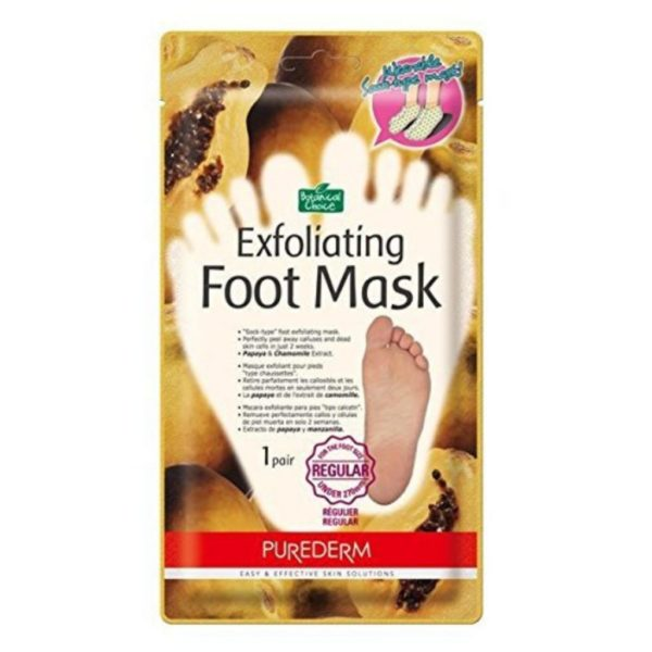 Purederm  Exfoliating Foot Mask - Peels Away Calluses and Dead Skin in 2 Weeks