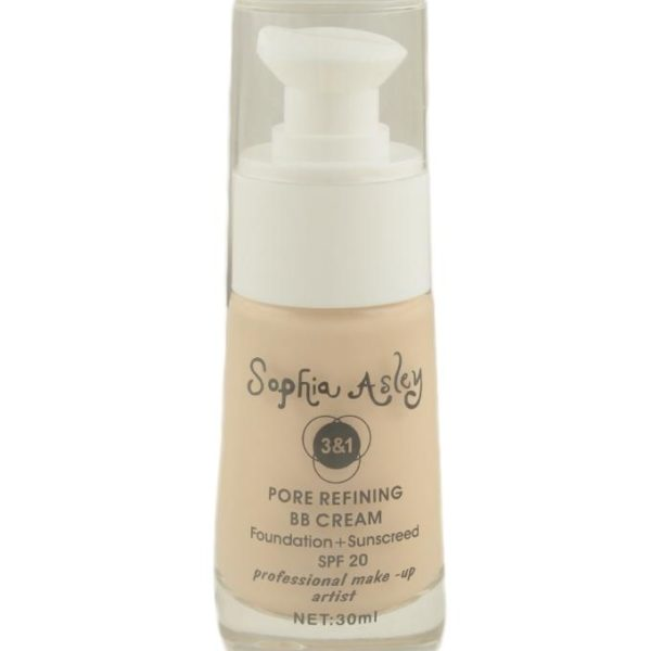 Sophia Asley 3 in 1 Pore Refining BB Cream SPF20 - 3 Light Ivory