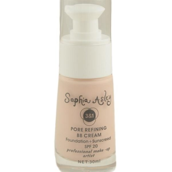 Sophia Asley 3 in 1 Pore Refining BB Cream SPF20 - 4  Porcelain