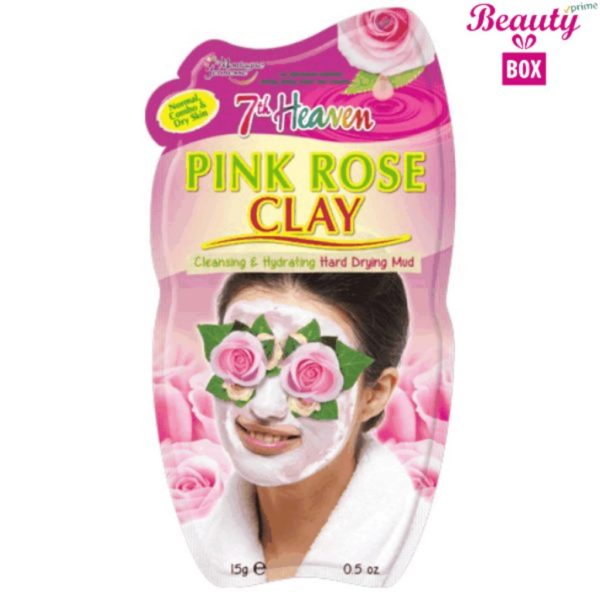 7th Heaven Pink Rose Clay Mask - 15G