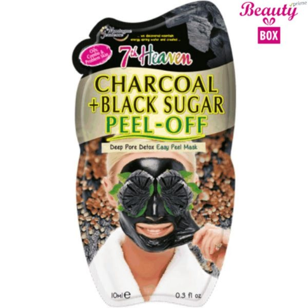 7th Heaven Charcoal + Black Sugar Peel Off Mask - 10Ml