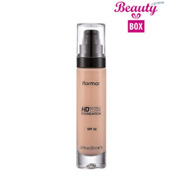 Flormar Invisible Cover HD Foundation - 030 Soft Porcelain