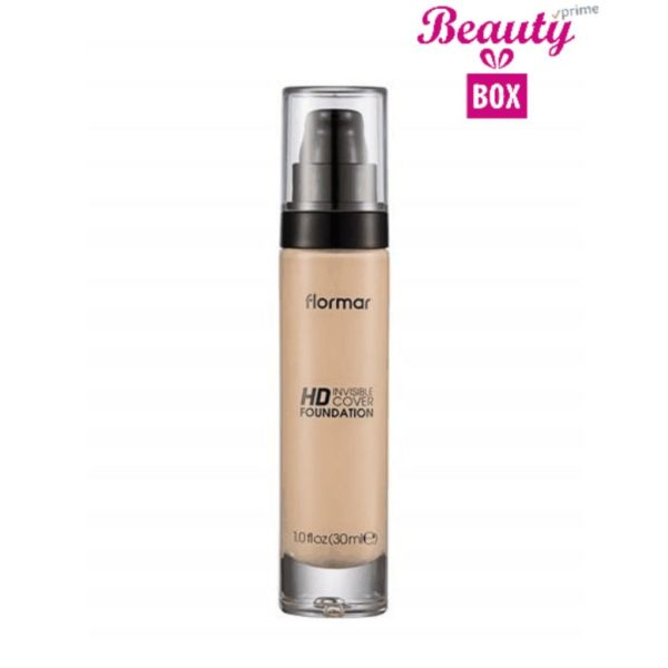 Flormar Invisible Cover HD Foundation - 003 Light Ivory