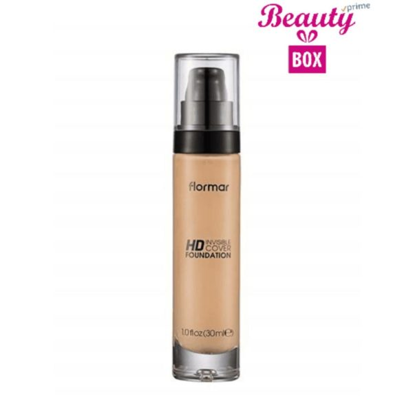 Flormar Invisible Cover HD Foundation - 007 Golden Neutral