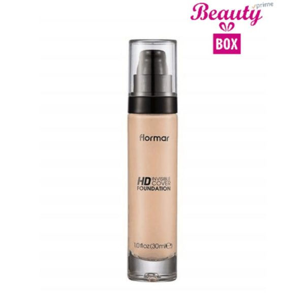 Flormar Invisible Cover HD Foundation - 001 Porcelain