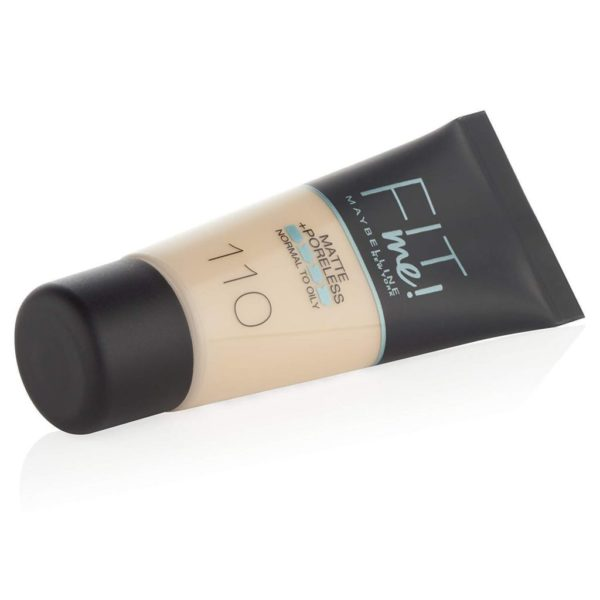 Maybelline Fit Me Matte and Poreless Foundation does not clog pores and is oil-free. It's blurring micro powder refines pores while shine is being absorbed for a natural matte finish.