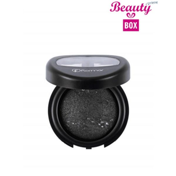 Flormar Diamonds Baked Eyeshadow - D02 Black Glitters-Intense
