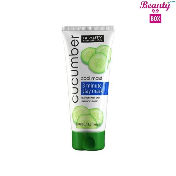 Beauty Formulas 3 Minutes Cucumber Clay Mask - 100Ml
