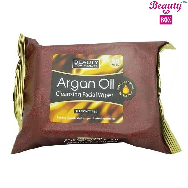 Beauty Formulas Argan Oil Facial Wipes - Pack Of 30