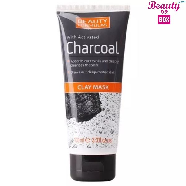 Beauty Formulas Charcoal Clay Mask - 100Ml