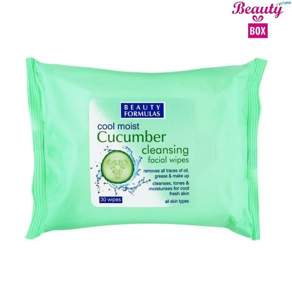 Beauty Formulas Cucumber Make Up Wipes - Pack Of 30