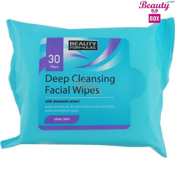Beauty Formulas Deep Cleansing Make Up Wipes - Pack Of 30