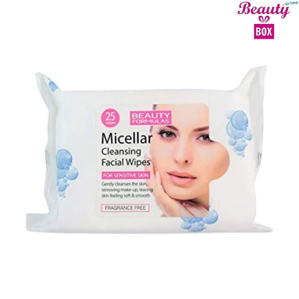 Beauty Formulas Micellar Cleansing Wipes - Pack Of 25