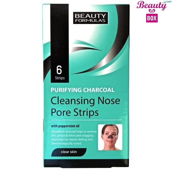 Beauty Formulas Purifying Charcol Nose Strip - Pack Of 6