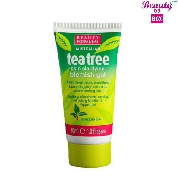 Beauty Formulas Tea Tree Blemish Gel - 30Ml
