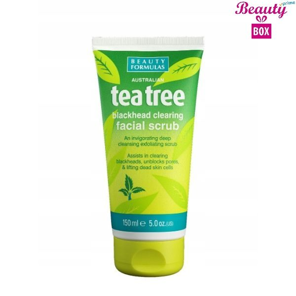 Beauty Formulas Tea Tree Facial Scrub -  150Ml