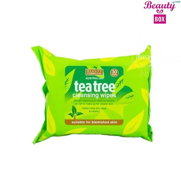 Beauty Formulas Tea Tree Make Up Wipes - Pack Of 30