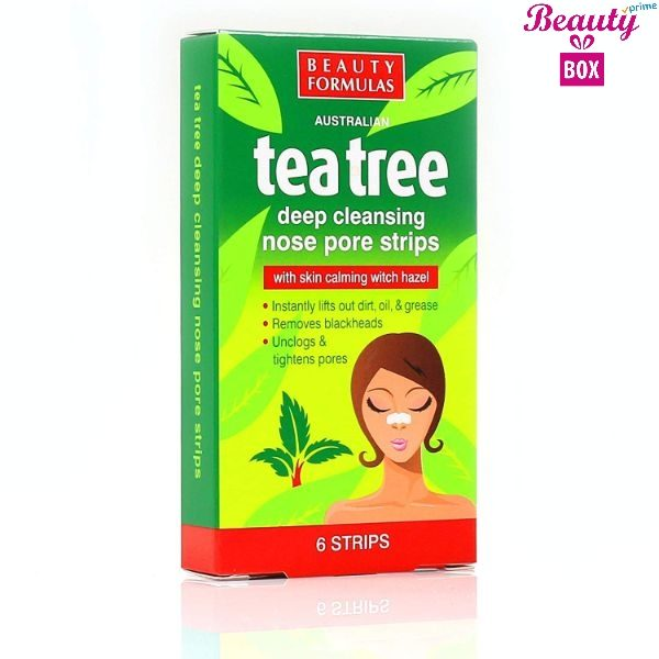 Beauty Formulas Tea Tree Nose Strip - Pack Of 6