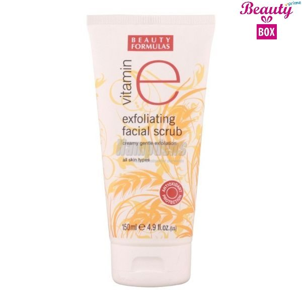 Beauty Formulas Vit-E Exfoliating Facial Scrub -  150Ml