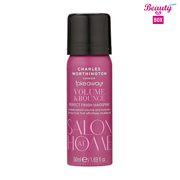 Charles Worthington Volume & Bounce Hairspray -50Ml-1