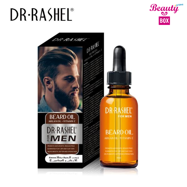 Dr. Rashel Beard Oil With Argan Oil + Vitamin E For Men - 50Ml
