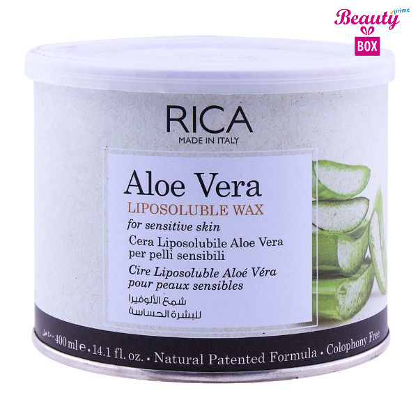 Rica Aloe Vera Sensitive Skin Liposoluble Wax - 400Ml