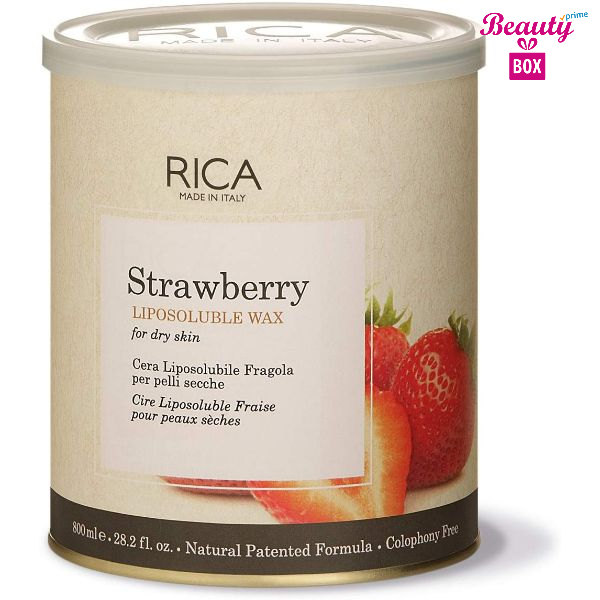 Rica Strawberry Dry Skin Liposoluble Wax - 800Ml