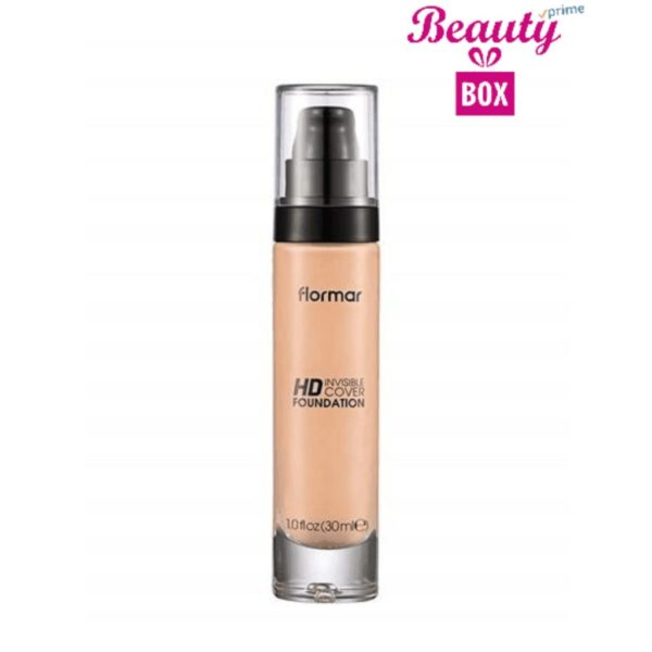 Flormar Invisible Cover HD Foundation - 002 Pink Porcelain