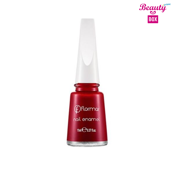 Flormar Nail Enamel - 128 Bordeaux Scream-bright