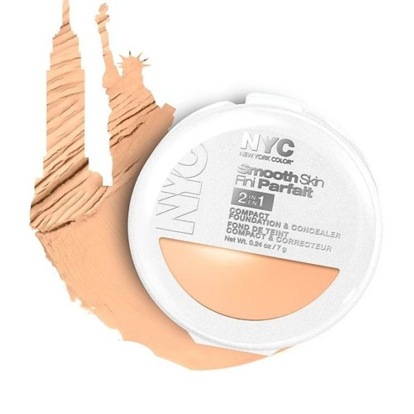 NYC Smooth Skin Fini Parfait Compact Foundation Concealer - 002 Light