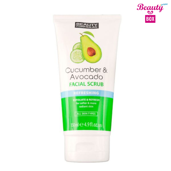 Beauty Formulas Cucumber & Avocada Facial Scrub – 150Ml