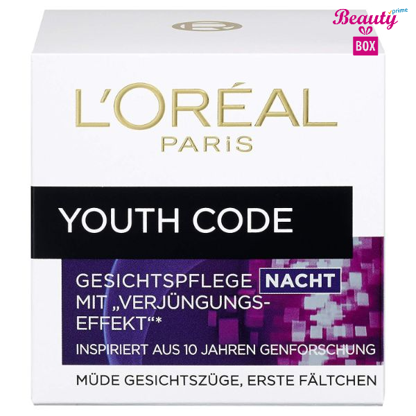 L'oréal Paris Youth Code Nacht Anti-wrinkle Night Cream -50Ml-1