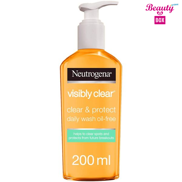 Neutrogena Visibly Clear And Protect Oil Free Face Wash - 200Ml