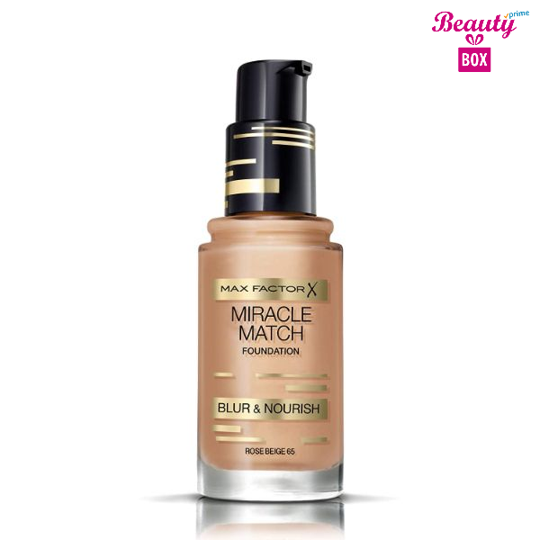 Max Factor Miracle Match Foundation – 65 Rose Beige-1