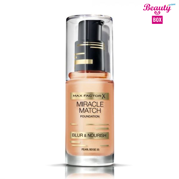 Miracle Match Foundation By Max Factor 35 Pearl Beige – 30 Ml