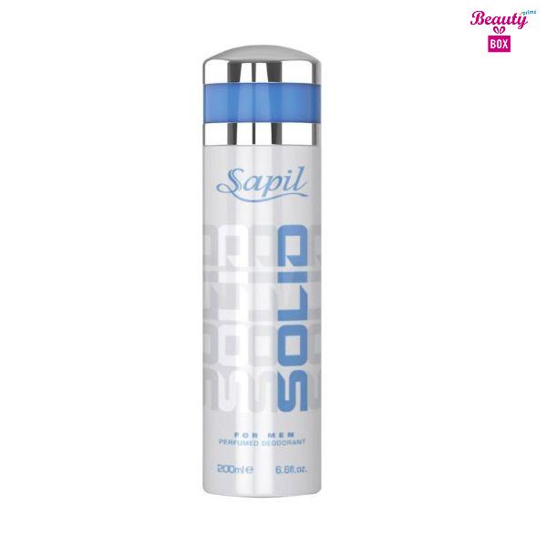 Sapil Solid Silver Body Spray For Men - 200 Ml