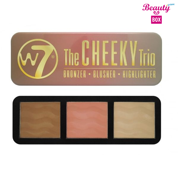 W7 Cheeky Trio Palette, Bronzer, Blush And Highlighter-1