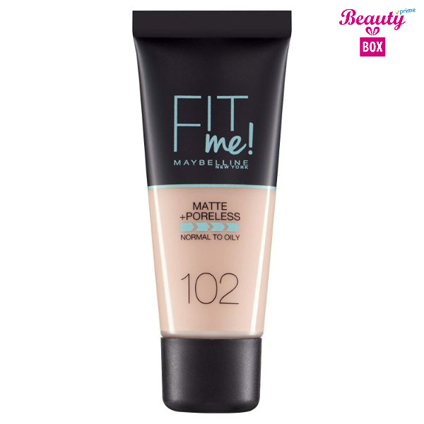 Maybelline Fit Me Matte & Poreless Foundation – 102 Fair Ivory 30ml