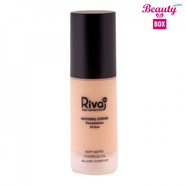 Rivaj HD Natural Finish 24 Hrs Foundation - 06