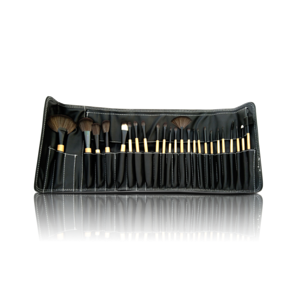 Glamorous Face 24 Piece Leather Brushset