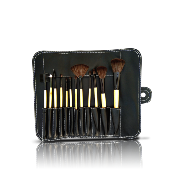 Glamorous Face 12 Piece Leather Brushset